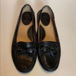 Frye Black leather loafer/slip on shoes size 8